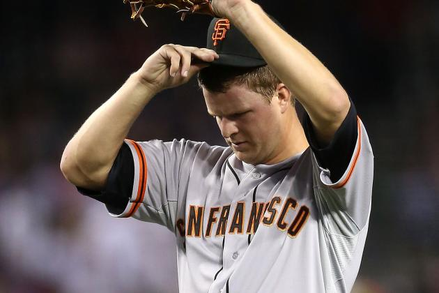 Cain Battered Again, Sandoval Hurt, Bochy Tossed, but Giants Win