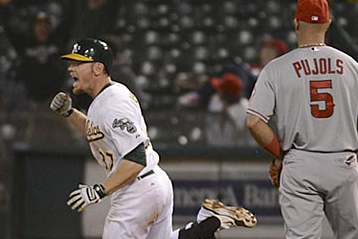 A's Outlast Angels on Moss' Walk-off HR in 19th Inning