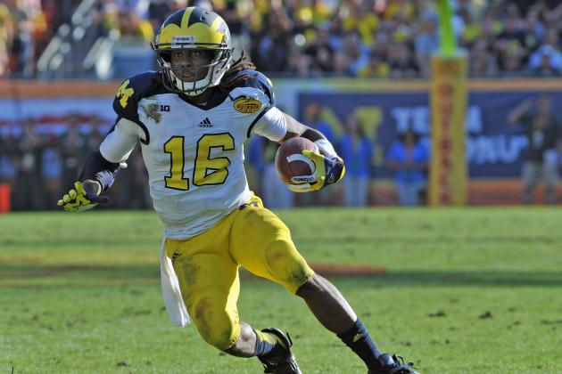 Jaguars Have High Hopes for Denard Robinson as RB, Returner