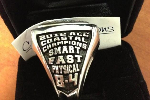 Photos: North Carolina's Division Championship Rings
