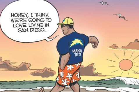 San Diego Media Already Making Fun of Manti Te'o Fake Dead Cancer GF