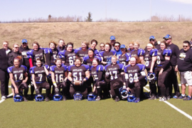 Football for Members of Okotoks Lady Outlawz Truly a Family Affair
