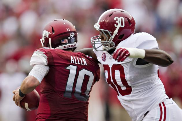 Alabama Football: Who Will Be Tide's Starting 'Jack' Linebacker in 2013?
