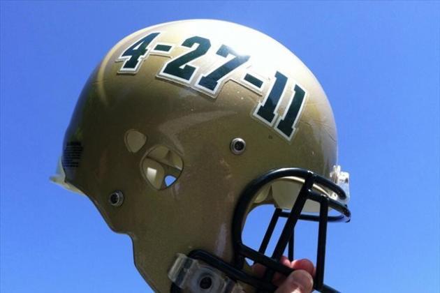 PHOTO: UAB Spring Game Helmet Remembers 2011 Tornado