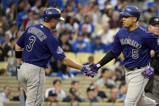 Rockies Fall 6-2 to Dodgers Despite Carlos Gonzalez's Fifth Home Run