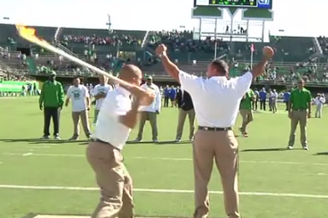 VIDEO: Marshall Strength Coach Has Flaming Paddle Broken over Back