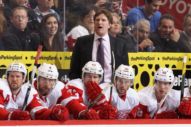 Red Wings' Mike Babcock Unlikely to Make Changes for Game 2 Against Ducks