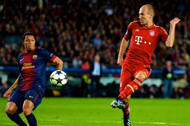 Arjen Robben's Sumptuous Hit the Pick of Bayern's Goals vs. Barcelona