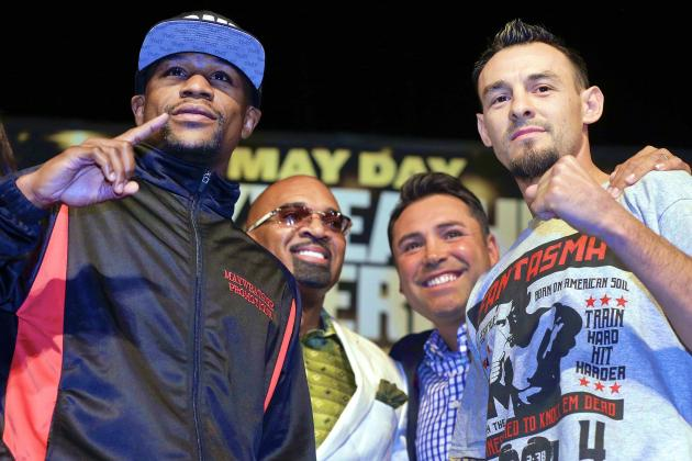 Robert Guerrero's Dad Calls Floyd Mayweather 'Woman Beater' in Press Conference