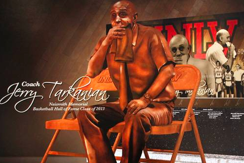 Tarkanian Statue Will Feature Legendary Coach with Towel in His Mouth