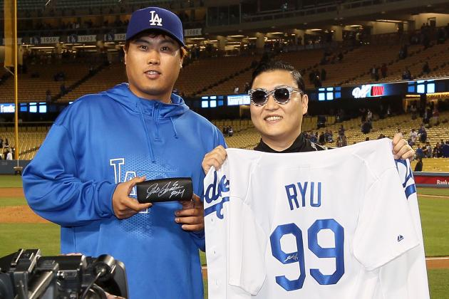 PSY Met Hyun-Jin Ryu and the Baseball World Shook
