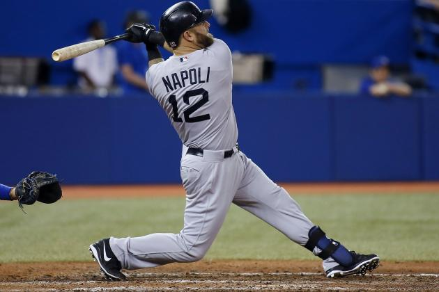 Napoli Powers Sox 10-1 Rout of Blue Jays