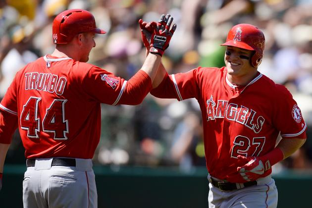 Trumbo Homers Again to Power Angels by A's