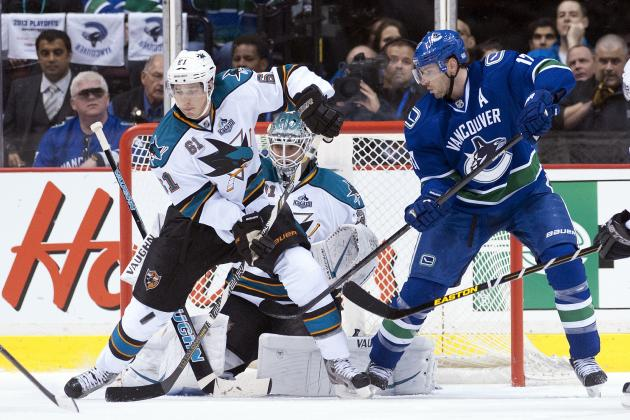 Sharks Rally to Win Opener in Vancouver