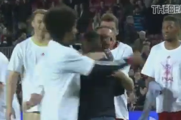 Video: Bayern Fan Leaps onto Pitch to Celebrate Barca Rout