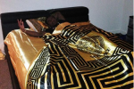 Deion Sanders Jr. Has Versace Sheets in Dorm Room