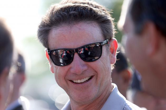 Louisville Coach Rick Pitino Watches His Kentucky Derby Horse Train