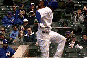 GIF: Cubs' Julio Borbon Pretends to Get Hit by a Pitch