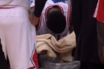 Nate-Rob Gets Sick on Sidelines During Timeout
