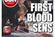 Ottawa Sun Takes Advantage of Lars Eller Injury on Cover