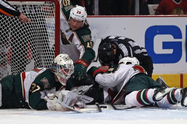 Blackhawks Hope to Make Things Harder on Wild Goalie Josh Harding