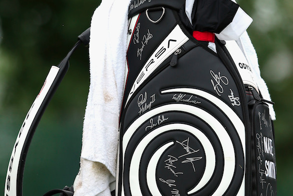 Golfer Plays Round with Signed Golf Bag