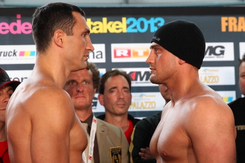 Images: Klitschko and Pianeta Face off