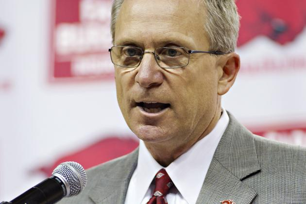 SEC Newest Deal Will Help Arkansas' Jeff Long with His Goals