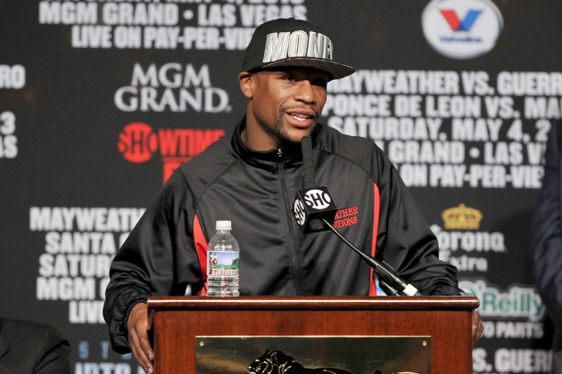 Mayweather vs. Guerrero: Watch Live Weigh-in for Saturday's Fight
