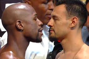 Mayweather, Guerrero Make Weight