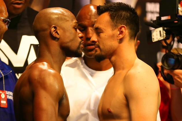 Mayweather vs. Guerrero Weigh-In: Complete Results from Pre-Fight Event