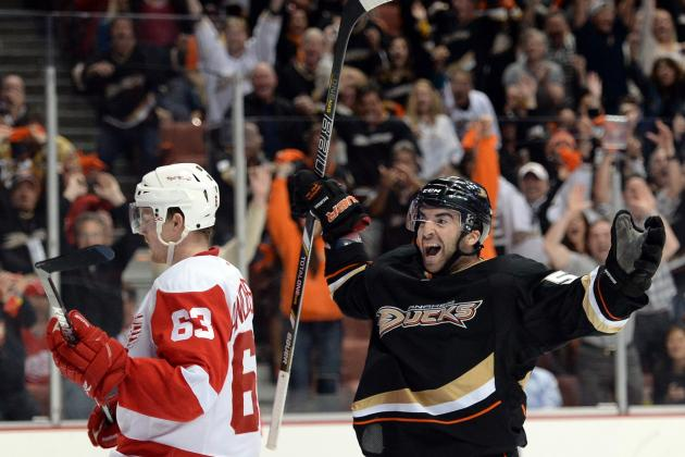 2013 NHL Playoffs: Red Wings Concede Momentum to Ducks for Game 3