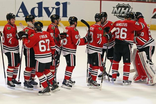 Sharp, Frolik Help Hawks Grab 2-0 Lead on Wild