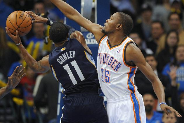 Who Has Edge in OKC Thunder-Memphis Grizzlies 2nd-Round Matchup?
