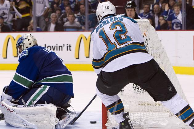 Sharks Rally, Top Canucks in OT for 2-0 Lead