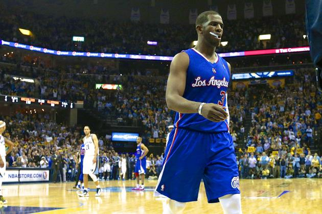 Chris Paul Ejected by Joey Crawford as LA Clippers Fade Down Stretch in Game 6