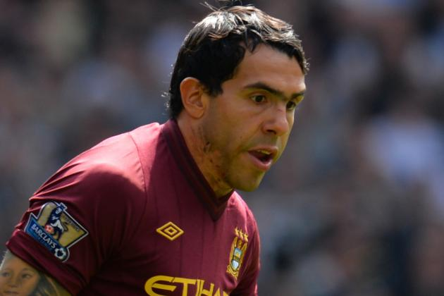 Carlos Tevez out of Lineup Today vs. Swansea