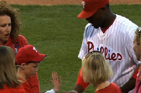 Blind Fan Asks Ryan Howard to Hit a Home Run for Him. Howard Delivers