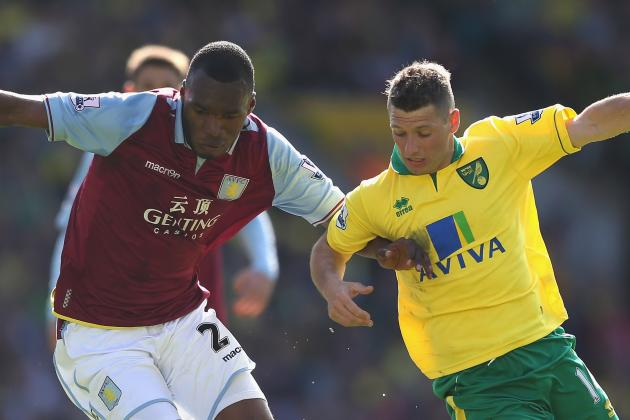 Aston Villa's Gabriel Agbonlahor Leaves Norwich's Nerves Jangling