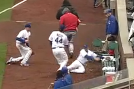 Cubs' Darwin Barney Fall Down and Go Boom