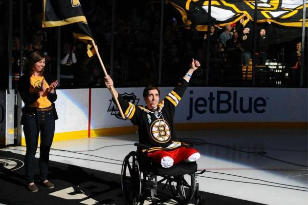 Jeff Bauman Serves as Bruins' Banner Captain vs. Maple Leafs