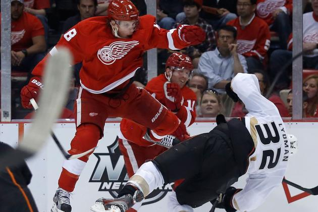 VIDEO: Justin Abdelkader Delivers Huge Hit on Toni Lydman