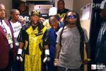 Lil Wayne Escorts Money Mayweather to the Ring