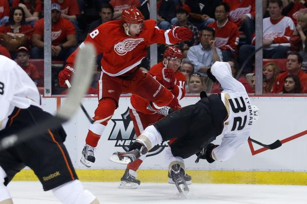NHL Playoffs 2013: Justin Abdelkader's Hit, Mistakes Cost Red Wings in Game 3