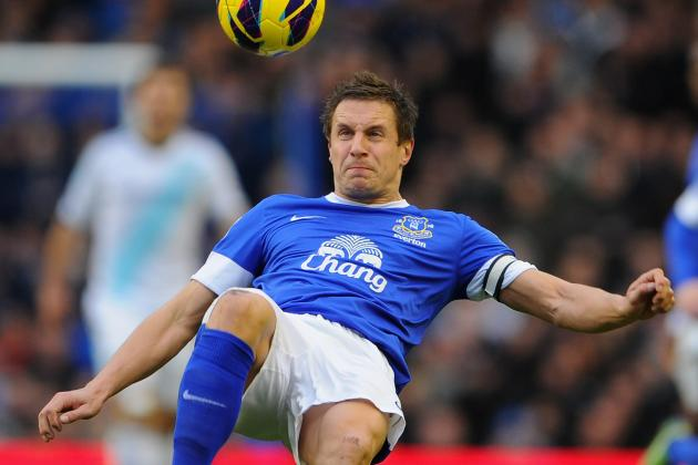 Everton Defender Phil Jagielka Looking for Derby Victory at Anfield
