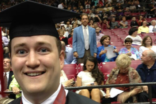 Nick Saban Photobombing Bama's Graduation? Sure