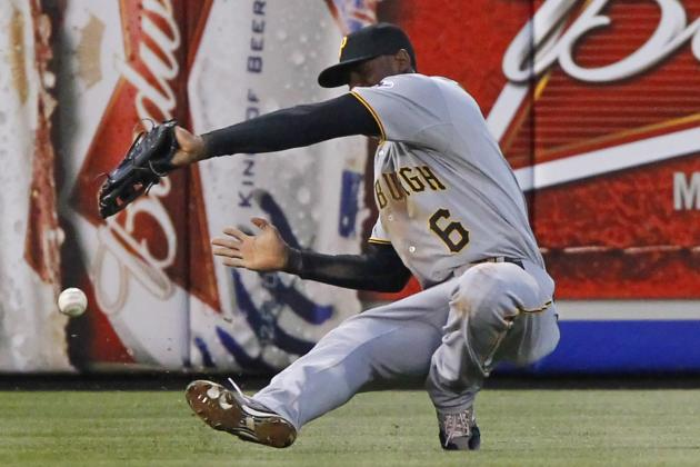 GIF: Pirates' Starling Marte Tries to Field a Ball with Glove on Wrong Hand