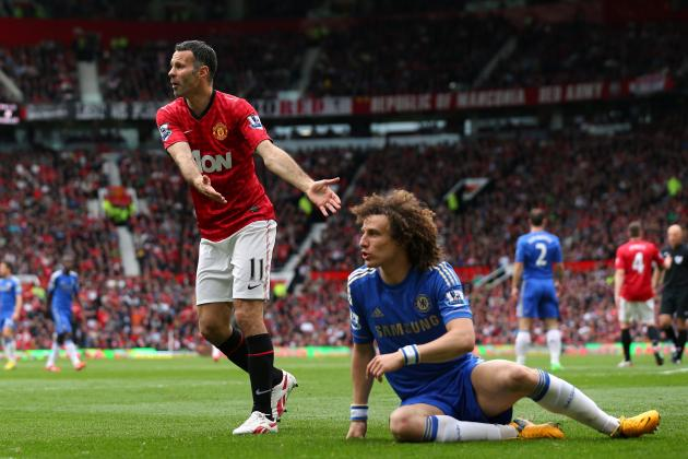 Manchester United vs. Chelsea: Juan Mata Goal, Rafael Red Card, David Luiz Laugh