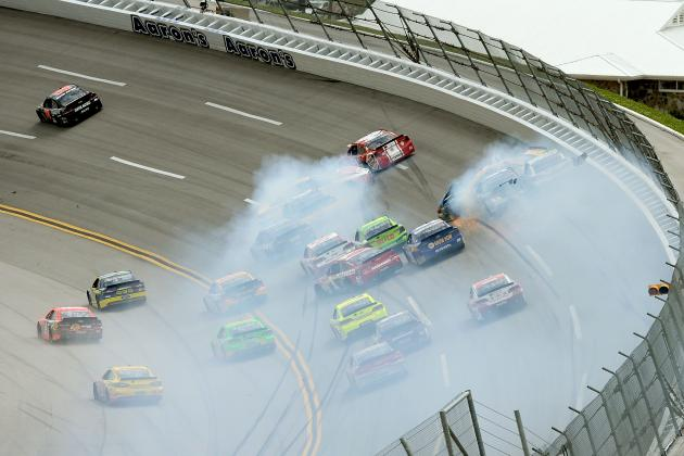 Kyle Busch Causes Big Crash Early at Talladega