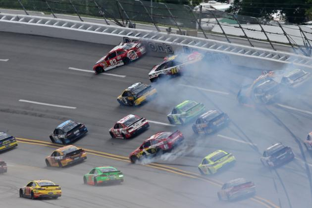 Kyle Busch Starts Early Talladega Wreck That Claims 13 Cars